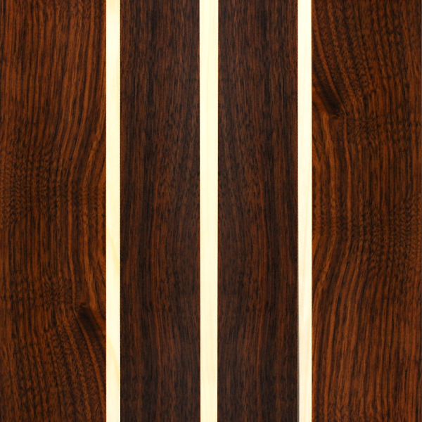 American Walnut with Maple Triple Stringer - Custom Wooden Veneer Snowboard