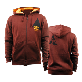 Pogo Hoodie Zipper - chocolate-orange