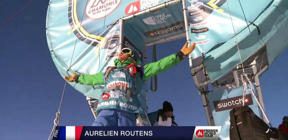 AURÉLIEN ROUTENS wins 4th place on first snowboard freeride world tour