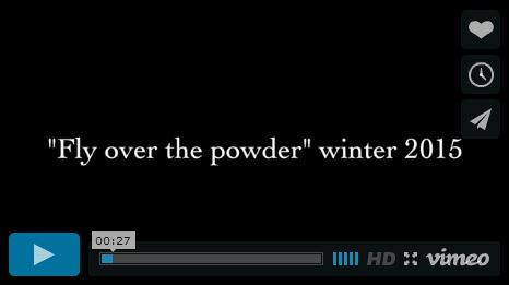 Fly over the powder snowboard video