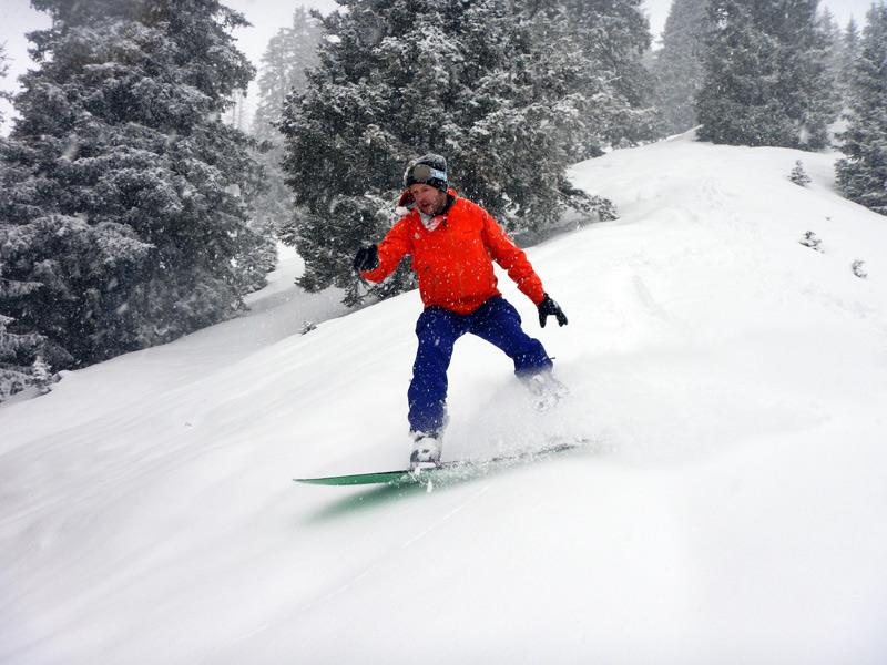 "When is your first time powdersurfing? Patrick from splitboarding.eu had a great time with the POGO Powdersurfer ""Asueto""."