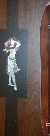 Pogo Snowboards - Wingergun mit Hula Girl Perlmut Inlay