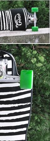 Pogo Downhill Longboard Sonderdesign Zebra