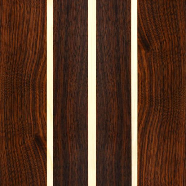 Nussbaum mit Ahorn Tripple Stringer - Custom Holzfurnier Skateboard