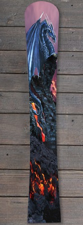 Pogo Snowboards -Hardcore Flex mit Dragon Airbrush