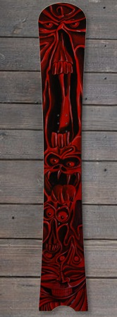 Pogo Snowboards - Impact handbemalt red tribal