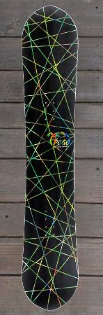 Pogo Snowboards - schwarz bunte streifen